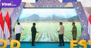 Gubernur Sumsel H Herman Deru dampingi Mentan RI, Syahrul Yasin Limpo hadiri kick off food estate di Ogan Ilir, Jumat (28/5/2021). Foto : viralsumsel.com