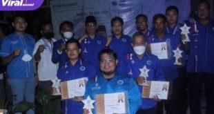 Halal Bihalal antar kader Partai Demokrat dan kader BMI Se-Sumatera Selatan, Sabtu ( 30/5/2021) malam. Foto : viralsumsel.com/eci