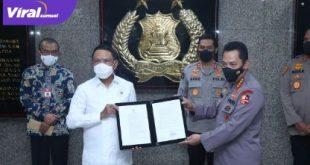 Kapolri Jenderal Listyo Sigit Prabowo bersama Menpora Zainudin Amali. Foto : istimewa
