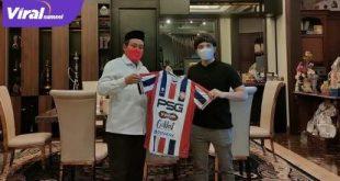 YouTuber Atta Halilintar bersama bos PSG Pati Sayful Arifin. Foto : ig story