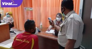 Atlet Sumsel ikuti vaksinasi di Kantor Kesehatan Pelabuhan Palembang. Foto : viralsumsel.com/ion