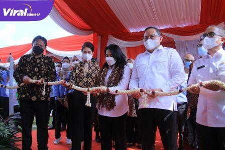 Menteri PPPA RI, I Gusti Ayu Bintang Darmawati SE MSi, saat bertandang ke Kabupaten Muba, Rabu (9/6/2021). Foto : viralsumsel.com