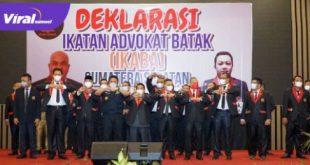 Gubernur H Herman Deru hadiri Deklarasi IKABA Sumsel di ballroom Hotel Arya Duta Palembang, Selasa (8/6/2021) petang. Foto :viralsumsel.com