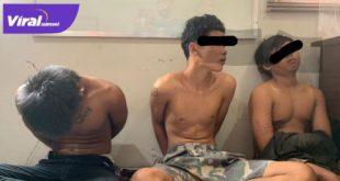 Tiga pelaku pencurian handphone di Rumah Makan diamankan polisi. Foto:viralsumsel.com/kai