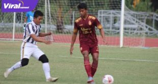 Gelandang Sriwijaya FC Suandi dalam laga uji coba kontra Depati Bachrim FC. Foto : SFC for viralsumsel.com