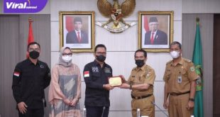 Wakil Ketua Tim Komite II DPD RI, Hasan Basri didampingi Amaliah Sobli bersama Plh Sekda Sumsel Akhmad Najib. Foto : viralsumsel.com/yuyu