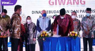 Gubernur Sumsel H Herman Deru hadiri peluncuran Giwang di Hotel Arista Palembang, Sabtu (19/6/2021) malam. Foto : viralsumsel.com/sep