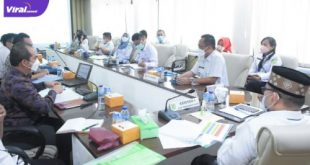 Suasana bersama Forum Kemitraan BPJS Kesehatan semester II di Ruang Rapat Randik, Senin (21/6/2021). Foto : viralsumsel.com/devi