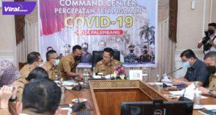Sekda Kota Palembang Ratu Dewa pimpin Rapat Percepatan Penyederhanaan Birokrasi di Rumah Dinas Walikota Palembang, Senin (21/6/2021). Foto : viralsumsel.com/nto
