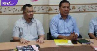 Ketua Umum KONI Provinsi Sumsel H Hendri Zainuddin (kiri) dengan Sekretaris Umum KONI Provinsi Sumsel Ir Suparman Romans. Foto : viralsumsel.com/ion