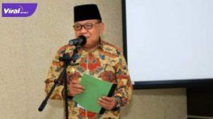 Wakil Bupati Lahat H. Haryanto,SE.MM berikan keterangann pada awak media, Kamis (25/6/2021). Foto : viralsumsel.com/oki