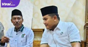 H.M. Dja'far Sodiq Ketua DPC PKB OKI terpilih bersama Ahmad Zarkasih, SHI., MM Pengurus DPW PKB Sumsel. Foto : viralsumsel.com/noto