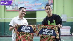 Pasangan Ratu Dewa dengan Agripina tumbang diperempat final Eksekutif Badminton TurnamenPBSI Sumsel 2021, Sabtu (26/6/2021). Foto : viralsumsel.com/ion
