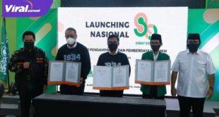 Ketua PP GP Ansor, Gus Yaqut hadiri launching kerjasama dengan PT. Pos Indonesia dan PT BNI di Jakarta, Rabu (30/6/2021). Foto : viralsumsel.com/nto