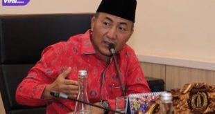 Sekretaris Daerah Kabupaten Muba Drs H Apriyadi MSi menerima kunjungan kerja Kepala Kakanwil DJKN) Sumatera Selatan, Jambi, dan Bangka Belitung, Surya Hadi, Jumat (2/7/2021). Foto : viralsumsel.com/devi