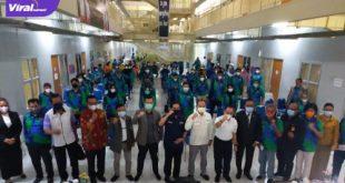 Sebanyak 102 atlet andalan Sumsel resmi menjalani Pelatda Terpusat di Kompleks Jakabaring Sport City (JSC), Palembang, Senin (5/7/2021) malam. Foto : viralsumsel.com/ion