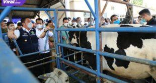 Gubernur Sumsel H Herman Deru didampingi Bupati Banyuasin Askolani pada Peringatan Hari Keamanan Pangan sedunia ke-3 di UPTD BPHPT, Sembawa Banyuasin, Selasa (7/7/2021). Foto : viralsumsel.com/sep