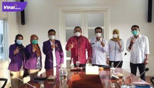 PDHI Sumsel audiensi dengan Bupati Dr Dodi Reza Alex Noerdin Lic Econ MBA di Kantor Perwakilan Musi Banyuasin di Palembang, Selasa (6/7/2021). Foto : viralsumsel.com/dev