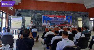 Cik Ujang Bupati Lahat adakan pertemuan mediasi dengan Perusahaan di kabupaten Lahat bahas persiapan tuan rumah Porprov 2023, Rabu (7/7/2021). Foto : viralsumsel.com