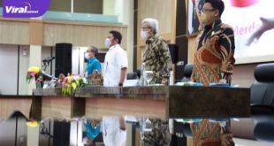 Gubernur Sumsel Herman Deru bersama Wakil Gubernur H Mawardi Yahya silahturahmi bersama Ketua Komite Sekolah dan Kepala Sekolah SMA, SMK dan SLB di Sumsel, Jum'at (9/7/2021). Foto : viralsumsel.com/sep