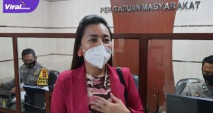 Novi selebgram Palembang melapor ke Polda Sumsel, Jumat (9/7/2021). Foto : viralsumsel.com/kai