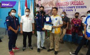 Pembagian hadiah ESI PALI Competition Season 1 di Gedung Orkes di Bolangan Komperta Pendopo, Jumat (9/7/2021). Foto : viralsumsel.com/eko
