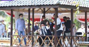 Gubernur Sumsel, Herman Deru hadir silaturahmi kebangsaan di kolam Pemancingan Danau Telok Putih Ponpes Raudhatul Ulum Sakatiga, OI, Sabtu (10/7/2021). Foto : viralsumsel.com/sep