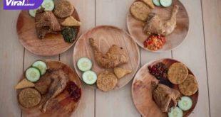 Menu favorit Ayam Dower Palembang. Foto : viralsumsel.com/darwin