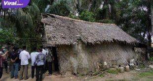 Bupati Banyuasin H. Askolani SH MH kunjungi rumah warga tidak layak huni, Jum'at (9/7/2021).