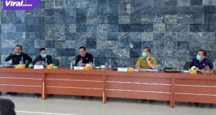Bupati Lahat Cik Ujang pimpin Rakor tanggap darurat antisipasi penyebaran Covid-19 di Kabupaten Lahat, Senin (12/07/2021). Foto : viralsumsel.com/oki