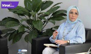 Ketua DPRD Sumsel, Hj RA Anita Noeringhati SH MH beri keterangan kepada media, Selasa (13/7/2021). Foto : viralsumsel.com /sep