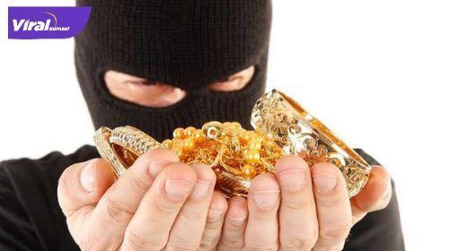 Ilustrasi perampokan toko emas. Foto : net