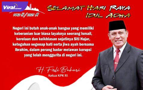 Ketua Komisi Pemberantasan Korupsi Republik Indonesia H. Firli Bahuri. Foto : viralsumsel.com