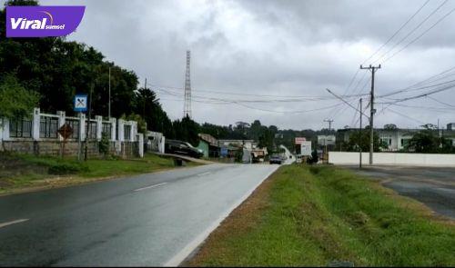 Foto suasana jalan Merdeka Ibukota PALI. Foto : viralsumsel.com/eko