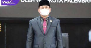 Ketua DPRD Kota Palembang Zainal Abidin pimpin Rapat Paripurna ke-10, Masa Persidangan II Tahun 2021 terkait Penyampaian Raperda tentang Pertanggungjawaban Pelaksanaan Anggaran Tahun 2020, Rabu (21/7/2021). Foto : viralsumsel.com/nto