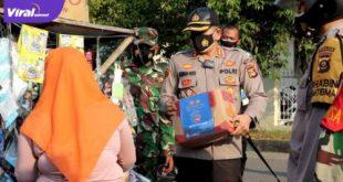 Kapolres Lahat AKBP Achmad Gusti Hartono S.IK memastikan bahwa percepatan penyaluran bantuan sosial. Foto : viralsumsel.com/oki
