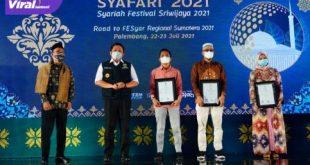 Gubernur Herman Deru hadiri Syariah Festival Sriwijaya 2021 di Hotel Arista Palembang, Kamis (22/7/2021). Foto : viralsumsel.com/sep