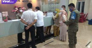 Wakil Bupati H. Haryanto beserta rombongan langsung mengecek ke hotel tersebut, Rabu (22/7/2021) malam. Foto : viralsumsel.com/oki