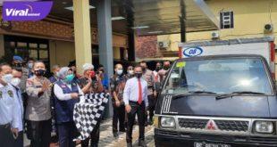 Kapolda Sumsel Irjen Pol Prof Dr Eko Indra Heri S MM usai mendengarkan ikrar atau janji dari anggota Gabungan Perusahaan Farmasi Sumsel, Rabu (21/7/2021). Foto : viralsumsel.com/kai