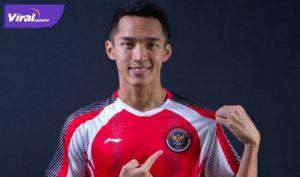 Pebulutangkis tunggal putra Indonesia, Jonatan Christie usai tundukkan Aram Mahmoud straight game 21-8, 21-14. Foto : pbsi