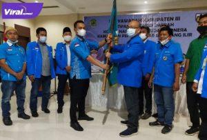 Fardinan SCom terpilih secara aklamasi dalam Musda ke - III DPD KNPI kabupaten PALI, Selasa (27/7/2021). Foto : viralsumsel.com/eko