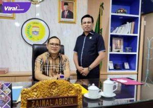 Firdaus Hasbulah Kepala BPOKK DPD Partai Demokrat Provinsi Sumsel bersama Ketua DPRD Kota Palembang Zainal Abidin. Foto : viralsumsel.com/ion