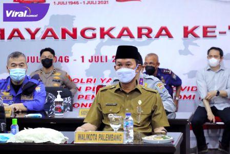 Walikota Palembang H Harnojoyo di Polrestabes Palembang, Selasa, (10/8//2021). Foto : viralsumsel.com/nto