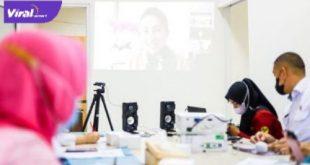Bunda PAUD Muba Hj Thia Yufada Dodi Reza pimpin rapat Program Kerja Pokja Bunda PAUD di Muba, Selasa (31/8/2021). Foto : viralsumsel.com/devi