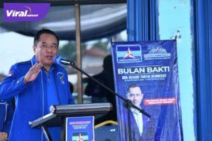 Cik Ujang SH Ketua DPC Partai Demokrat Kabupaten Lahat. Foto : viralsumsel.com/oki