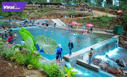 Destinasi wisata Ayik Pacar di Kabupaten Lahat, Sumsel. Foto : viralsumsel.com/oki