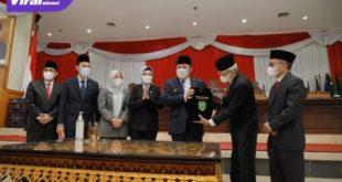 DPRD Sumsel Bersama Gubernur Sepakati Perubahan KUA dan Perubahan PPAS APBD Tahun Anggaran 2021. Foto : viralsumsel.com