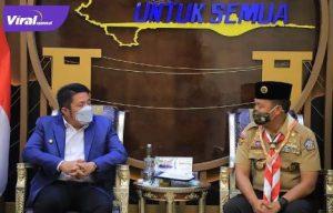 Gubernur Sumsel H. Herman Deru yang juga sebagai Ketua Majelis Pembimbing Kwarda Gerakan Pramuka Sumsel. Foto : viralsumsel.com/win