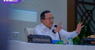 Bupati Muba Dr Dodi Reza Alex Noerdin Lic Econ MBA pada acara FGD Penanggulangan Aktivitas Illegal Drilling dalam Perspektif Hukum dan Dampaknya di Kabupaten Muba, Rabu (13/10/2021). Foto : viralsumsel.com/devi