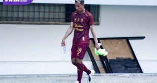 Rudiyana penyerang Sriwijaya FC saat keluar lapangan. Foto : mo sfc